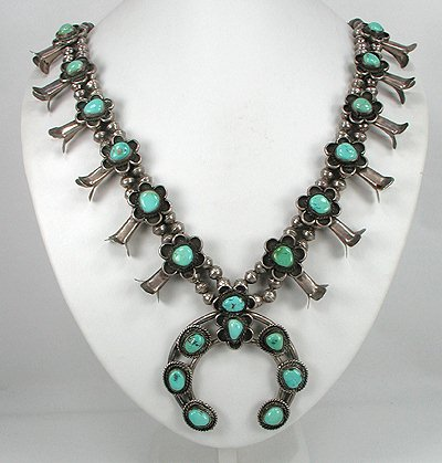 navajo squash blossom necklace what is its history and