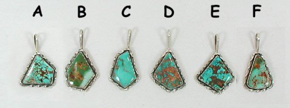 Natural Royston Turquoise Native American Jewelry Tips