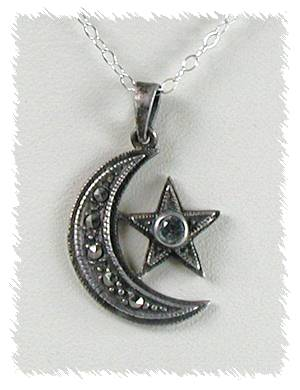 Moon and star pendant does anyone know origin or source bb605 pendant moon star 1 mozeypictures Gallery