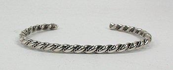 """1/8"""" Sterling Silver Navajo twist bracelet"""