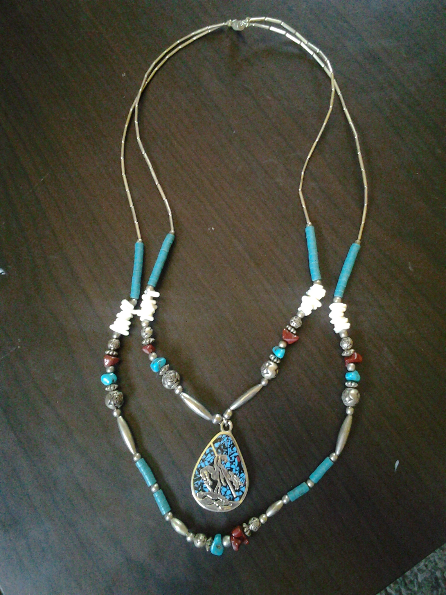 jewelry south strand by lucas rose turquoise gaspeite necklace multi southwestern products southwest img singer beaded west jewellery don tommy