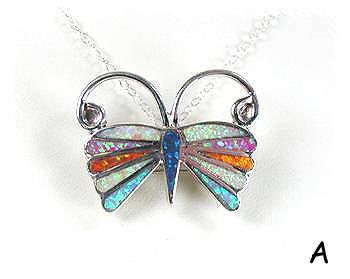 Zuni Opal Inlay Pin Pendant by Earline Edaakie