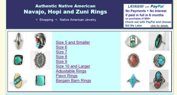 New Native American Rings