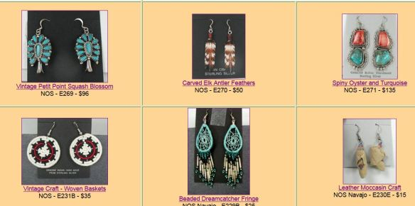 Native American Pawn Earrings