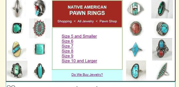 Native American Pawn Rings