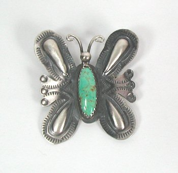 Navajo Pin Pendant by Thomas Yazzie