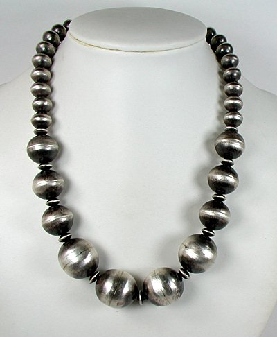 Antiqued Navajo Pearls by Virginia Tso