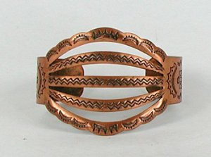 Five Wire bracelet, sometimes called spreadwire, made in copper by Bell Trading