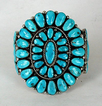 Zuni Cluster bracelet by Robert and Bernice Leekya