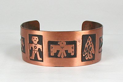 Bell Trading Co copper symbol bracelet