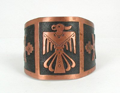 Bell Trading Co. Thunderbird Cuff in Copper