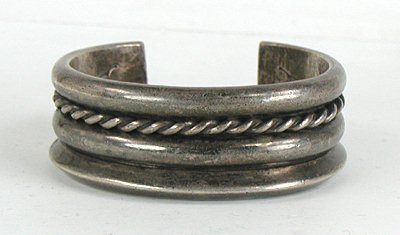 Early Sterling Silver Cuff Bracelet