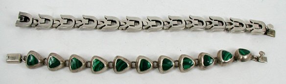Two Mexican-made bracelets stamped MEXICO 925