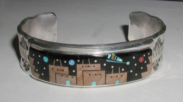 Inlay Bracelet by Navajo artist Merle House, Jr.