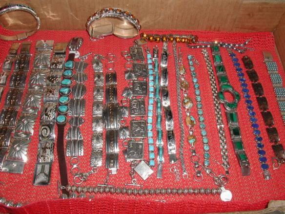 A variety of link bracelets
