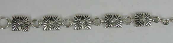 Lambert Perry, Navajo sterling silver concha style link bracelet