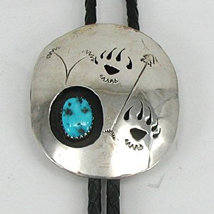 Shadowbox Bolo Tie with Paw Prints