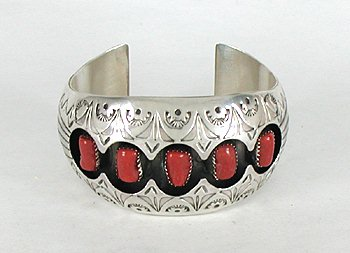 Shadowbox Bracelet by Pauline Benally, Navajo