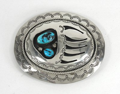 Shadowbox Belt Buckle - Wilbur Musket, Navajo