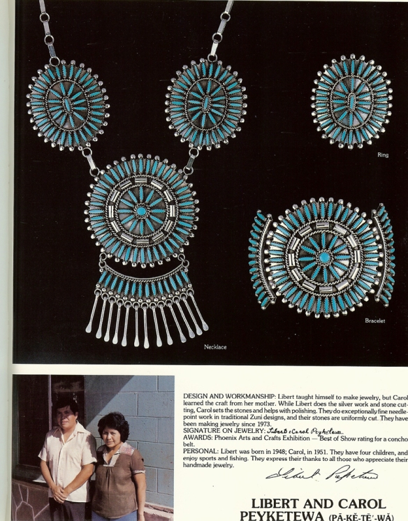 From page 39 Who's Who in Zuni Jewelry