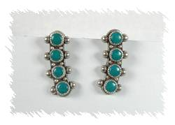 161ef548a Vintage Sterling Silver and Turquoise Screw Back Earrings