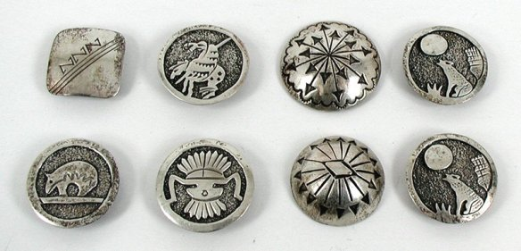A mixture of vintage buttons and contemporary button covers - can you tell which are which?