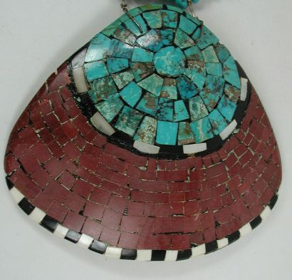 Large inlaid shell